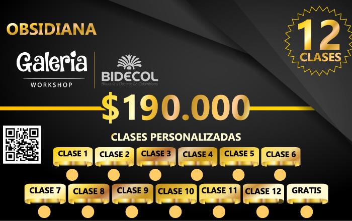 Bonos / Bonos clases de bisutería / galería workshop / promociones especiales bidecol whatsapp (+57) 3054294405.