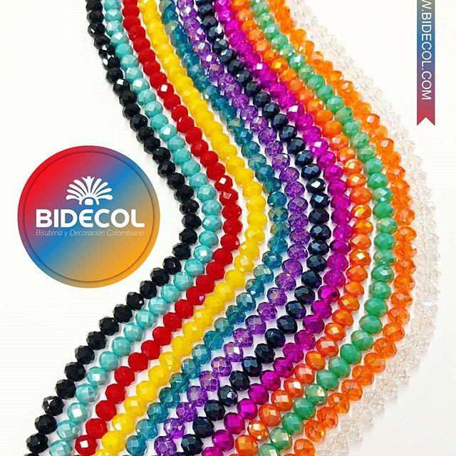 Murano Chino en gran variedad de calibres y colores Bidecol