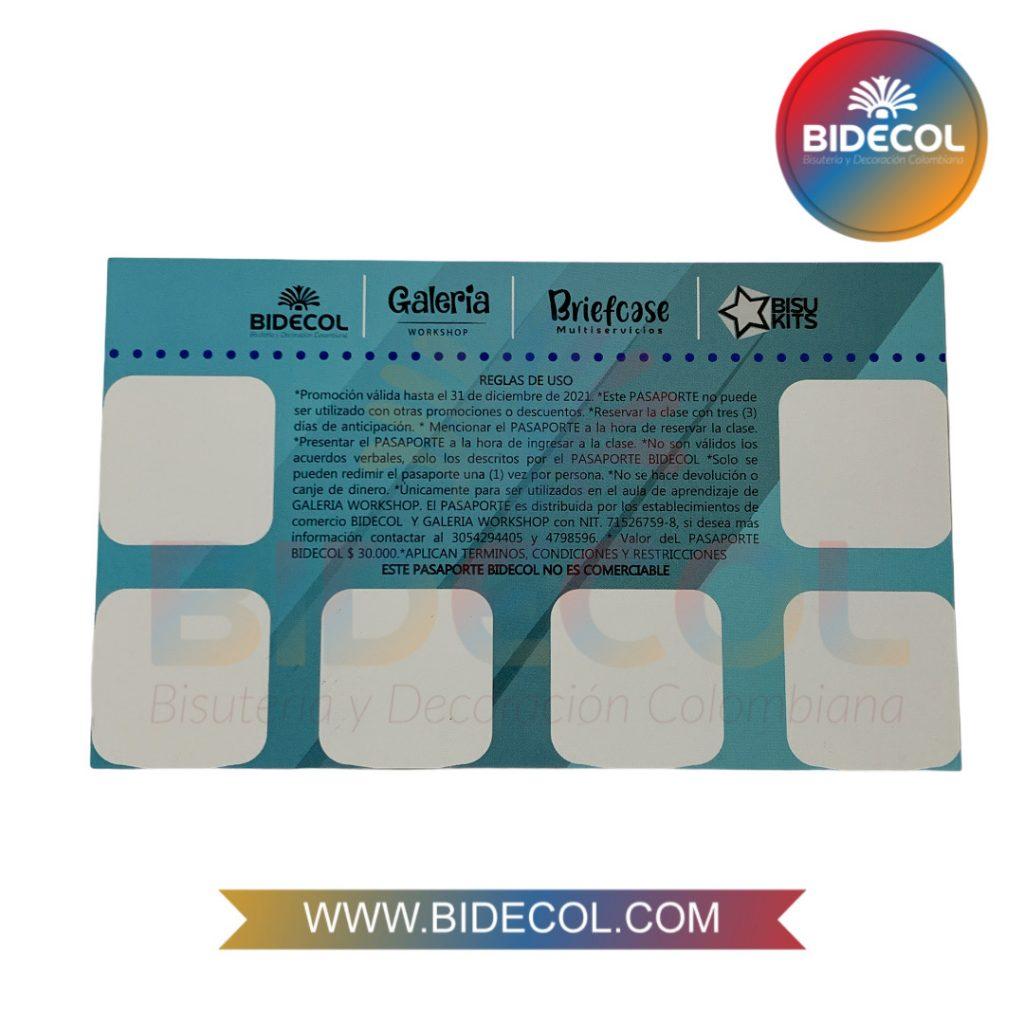 Pasaporte Bidecol Clases de Bisuteria