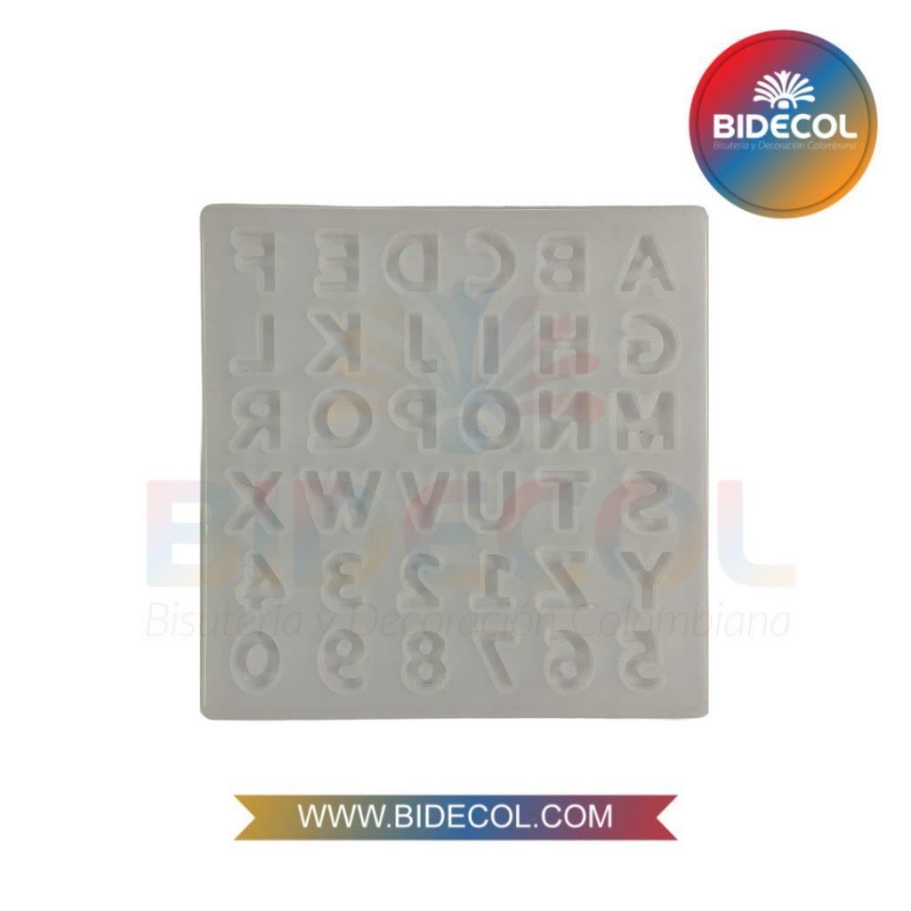 Molde de letras y numero x 36 espacios Bidecol