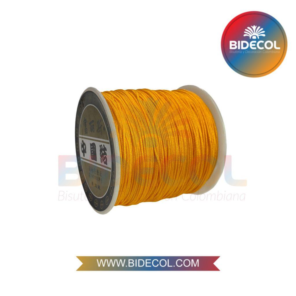 Hilo Chino 0.8mm x 100m Amarillo Oscuro x 1und BIDECOL