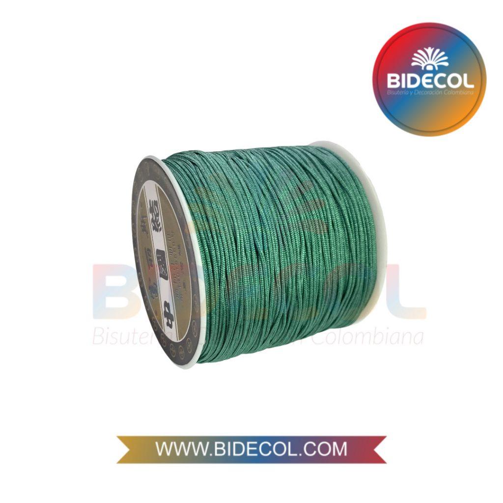 Hilo Chino 0.8mm x 100m Verde Circón x 1und BIDECOL