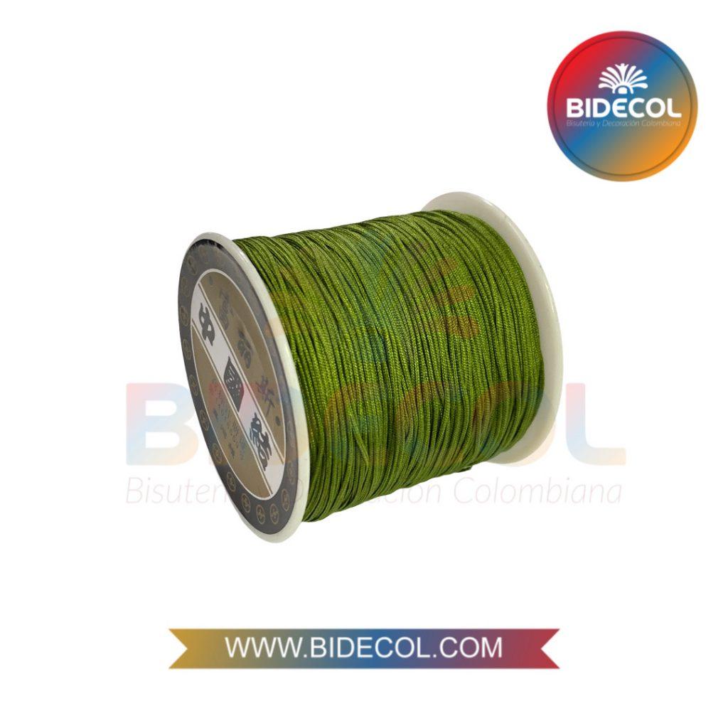 Hilo Chino 0.8mm x 100m Verde Militar x 1und BIDECOL