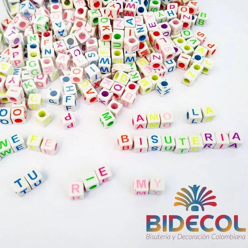 Letras para Pulseras www.bidecol.com Bidecol Bisuteria